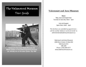 The Valemount Museum – Tour Guide